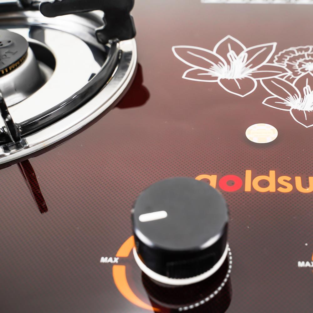 Gas stove GS-705GB 2 gas burner with gas stove is tempered glass kitchen surface (GOLDSUN)