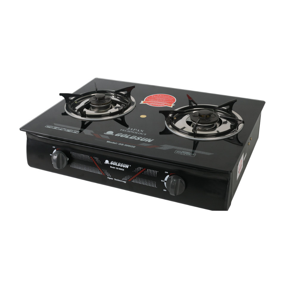(Model number: GS-906G.E) Stove Glass Cooktop Cooking Appliance 2 Burner Gas