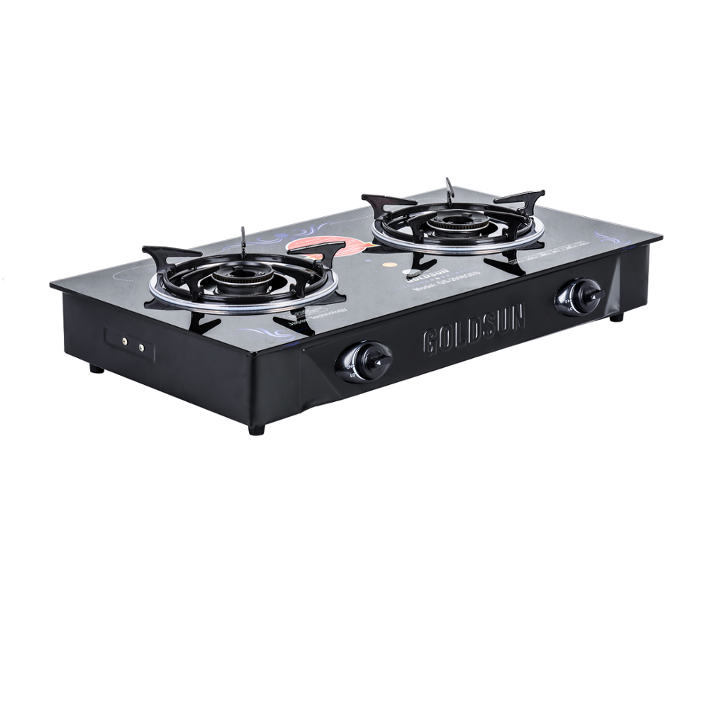 Best PRICE !!! High quality gas stove 2 burner XU2008GES is Gas-saving and easy to clean